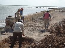 En marcha reparación del último tramo del malecón puertopadrense