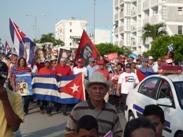 Desfilaron los trabajadores en el Día del proletariado mundial